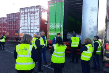 Multi-agency Inspection of Trailers at Seatruck Terminal